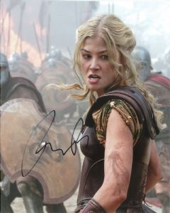 Rosamund Pike (Andromeda) WRATH OF THE TITANS (2012) - 10 X 8 genuine signed autograph 10717